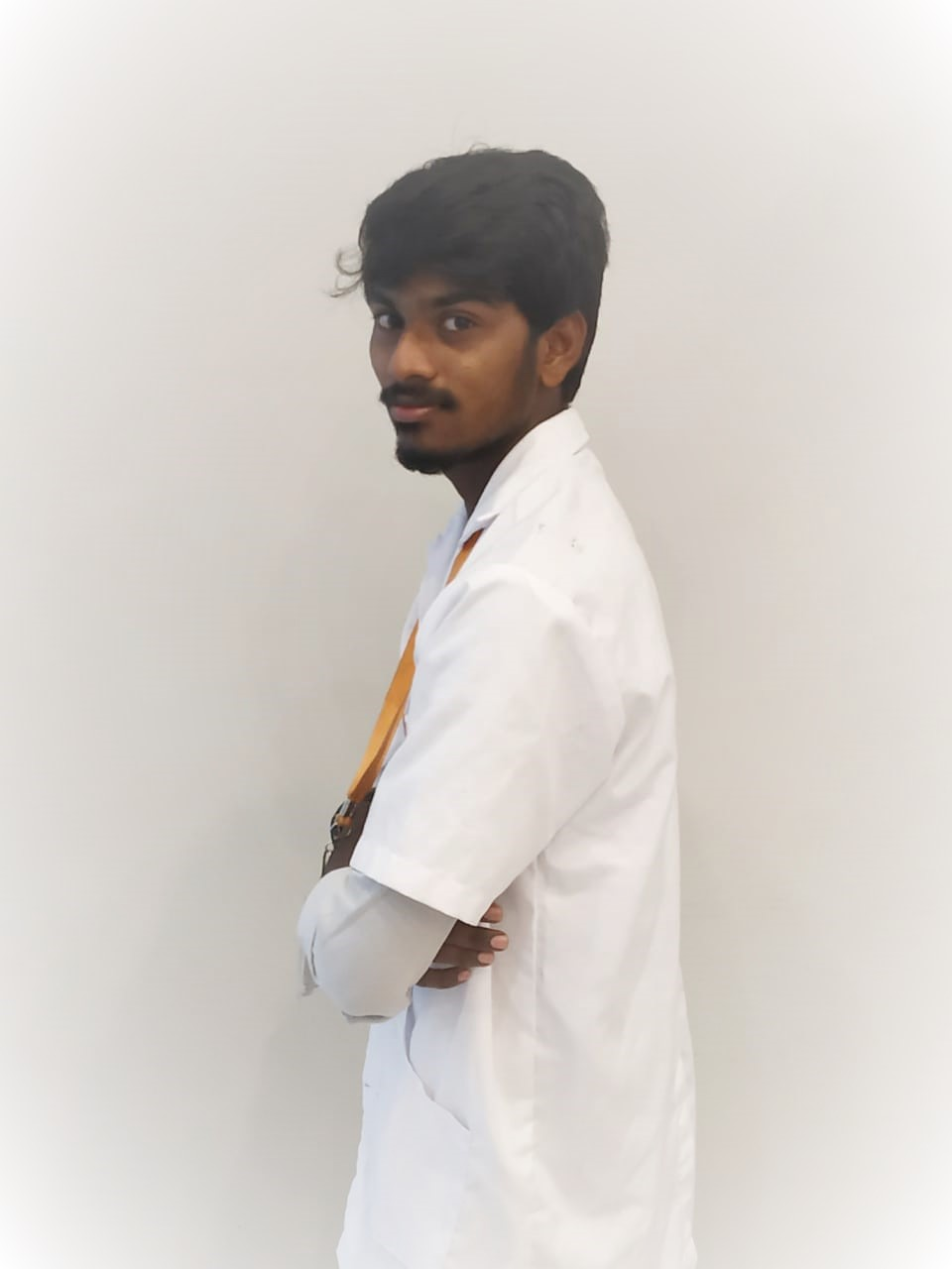 Male Lab technician with lab coat
